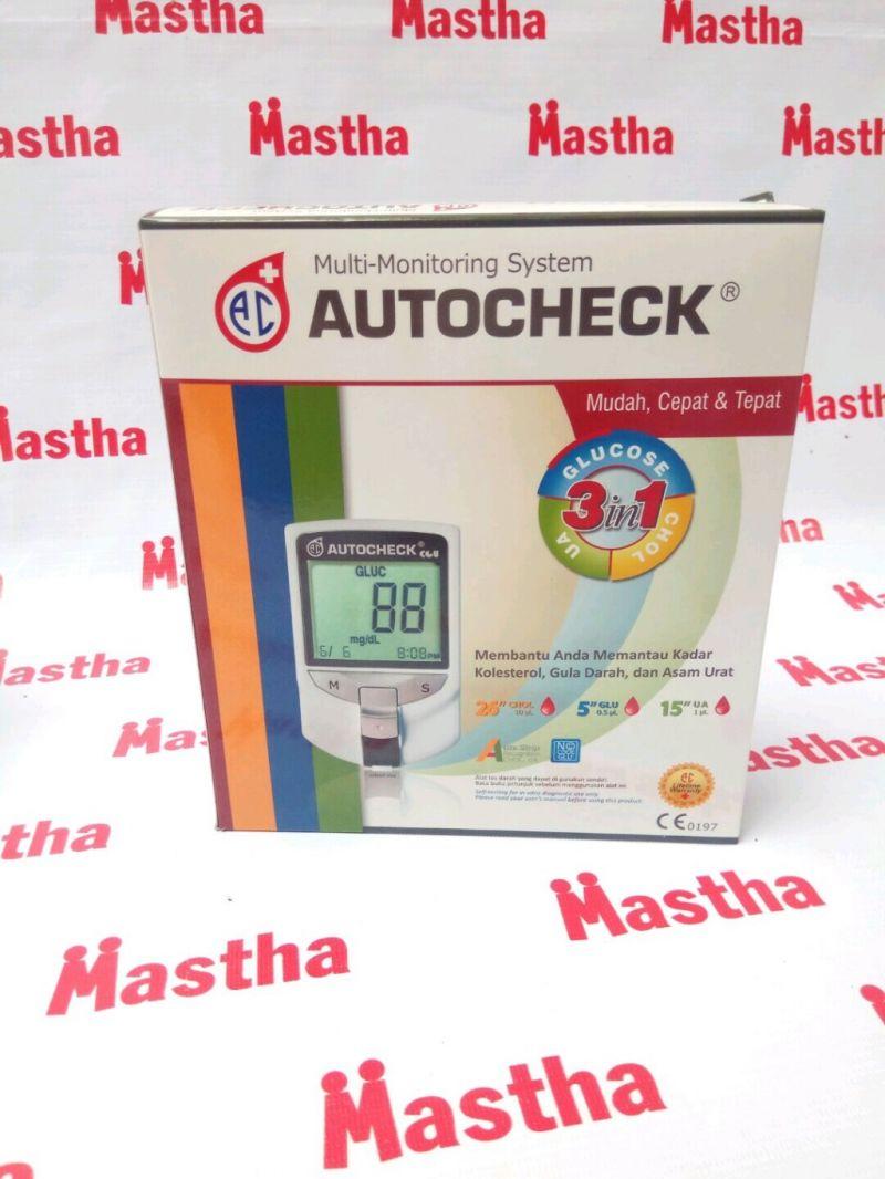 Auto Check 3 In 1 Alat Tes Gula Darah Asam Urat Kolesterol Autocheck Paket Strip Kolestrol