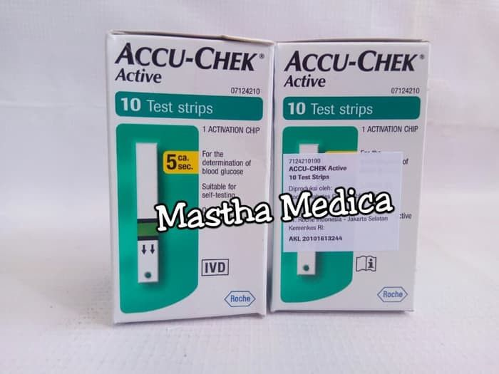 Alat Check Up Gula Darah Glukosa Accu Chek Check Active Family Pack